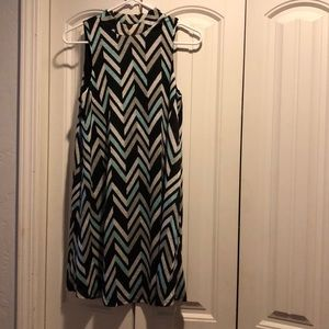 Closet candy new mint chevron dress